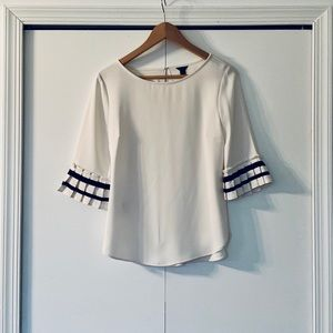 ... Ann Taylor NWOT Fluted Sleeve Ribbon Top XS ... 509a5c062c53